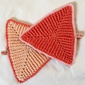 Set of 2 Washcloths, Potholders or Trivets