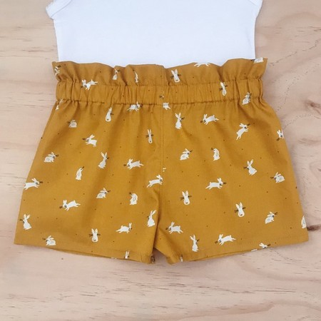 Shorties - Mustard Bunnies - Easter - Rabbits - Girls - Sizes 000-2