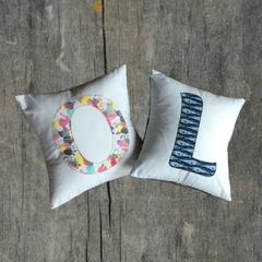 Monogrammed cushion