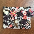 Coin Purse - Black Floral