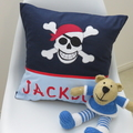 Boys Personalised Appliqued Cushion Covers - VARIOUS DESIGNS Available