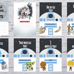 "Star Wars Baby Milestone Cards, Pack of 34, Baby Shower Gift, Photo Prop, 6""x4"""