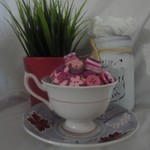 Tea Cup Button Posy