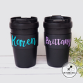 Personalised Travel Coffee cup with Name * Reuseable Insulated