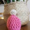 Newborn Chunky Beanie (Pink)