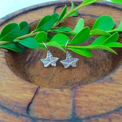 Recycled Silver Ivy Leaf Earrings