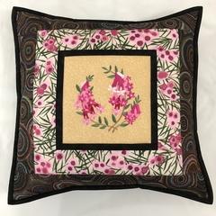 Australiana cushion cover - Pink Heath'