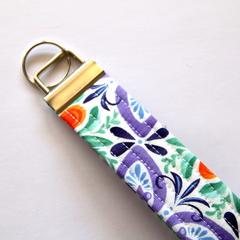 Wrist Key Fob / Keyring - Pretty Florals