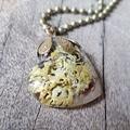 Mountain Coral Lichen - Baby Heart Pendant