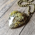 Mountain Coral Lichen Heart Pendant