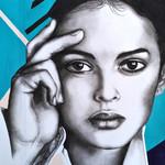"""Addicted to Love"" -  Art Deco Portrait - 40cm (W) x 50cm (H)"