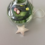 99.9% Recycled Silver Star-shaped Pendant with music score texture, on chain