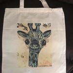 Calico Tote Bag with original art