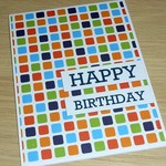 Male Happy Birthday card - square print