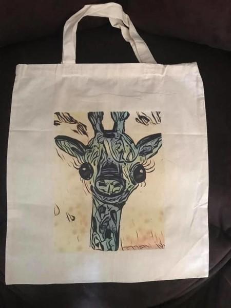 Calico Tote Bag with original art