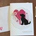 Thinking Of You Card / Birthday Card / Dog Card - Free Post