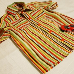 Super Funky multi colour stripe button down shirt - size 1