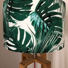 Monstera & Palms Fabric Drum Lampshade
