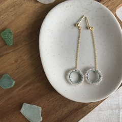 Swing chain earring