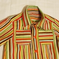 Super Funky multi colour stripe button down shirt - size 1
