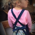 Kids upcycled  denim apron Suits 3-6 yr old