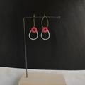 Drop shape hoop earring