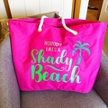Personalised Name Big Beach Tote Bag