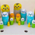 Nesting Dolls set of 5 Pet Shop Birds