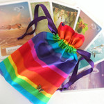 Chakra colour tarot and oracle pouch.