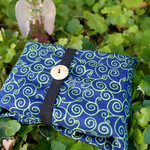 Reversible tarot reading cloth wrap Blue and Green