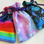 Rainbow pastel tarot and oracle pouch. Made in Australia