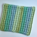 Washcloth hand knitted Eco Friendly cotton