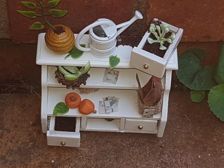 home decor miniature  garden cabinet