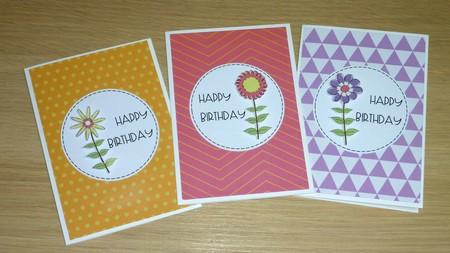 Set 3 Female Happy Birthday cards - flowers