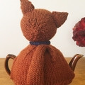 Brown Cat Tea cosy  fits 3 to 4 cup pot - damaged stock