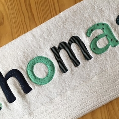 Boys Personalised Name Towel