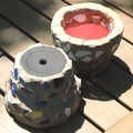 Mosaic Flower Pot - Two Planter Pots - Tiny Rustic