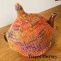 Bright Orange Tea Cosy to fit a 6 cup pot