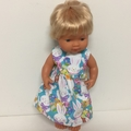 Miniland Dolls Easter  Dress  and Matching Bonnet to fit 38cm Dolls