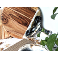 Resin Chopping Board | Minimalist Black and White Cheese Board | Cutting Board |