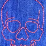 Denim Skull Recycled Plastic Bag Holder