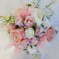 Pink Peony & Rose Artificial Bridesmaid Bouquet Wedding Flowers