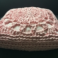 Crochet Cushion - Baby Pink