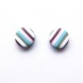 Multi Stripe stud polymer clay earrings by Sasha and Max Studio