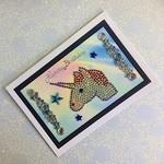 'Unicorn and Rainbow' Birthday Card with Crystals