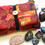 Australian Aboriginal design tarot reading cloth and wrap.