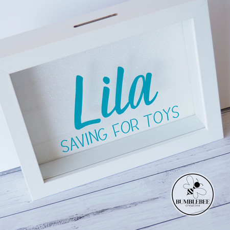 Photo Frame Money Box - Saving for Toys Great Personalised Gift.