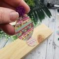 Easter Eggs -  Dangle Earrings - Acrylic - Purple Teal Pink Glitter