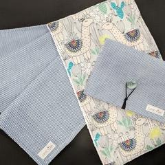 Nappy Wallet / Change Mat / Burp Cloth - MATCHING SET