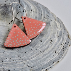 Stylish & Sustainable Coral Pink Wooden Earrings
